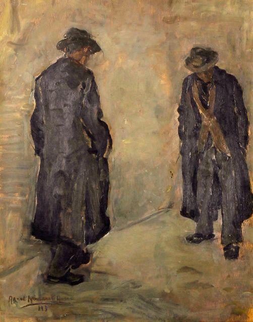 "Renée Navarrete Risco (1906-1999) pintora peruana. ""La Vida..."". Óleo sobre tela."