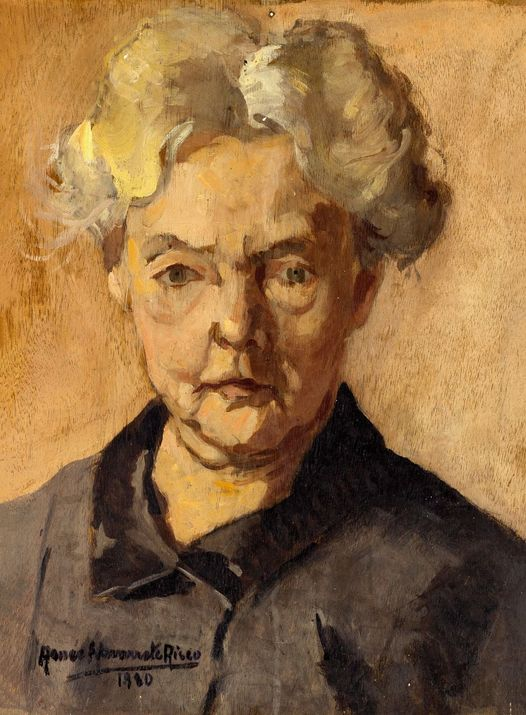 "Renée Navarrete Risco (1906-1999) pintora peruana.  ""Senectud plena""."