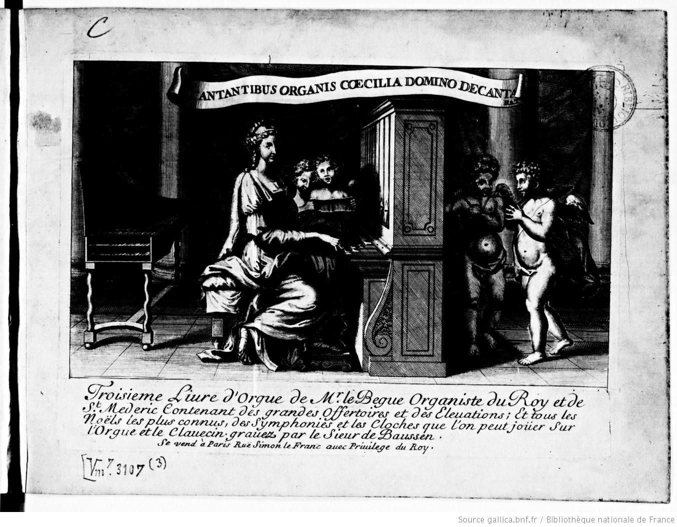 Portada interior del Troisieme livre d'orgue.
