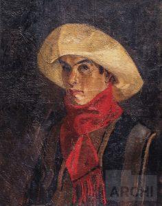 Autorretrato (Joven de la chalina roja)