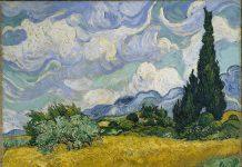 Campo de trigo con cipreses, Van Gogh