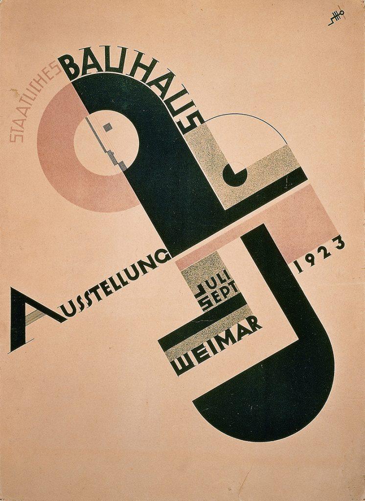 Cartel de la Bauhaus, Schmidt (1923)
