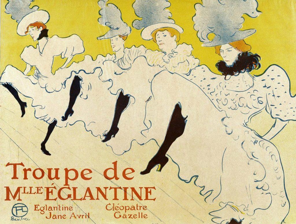 Cartel anunciando a Jane Avril y Cléopatre Gazelle, las bailarinas estrellas del Moulin Rouge - Henri Toulouse-Lautrec