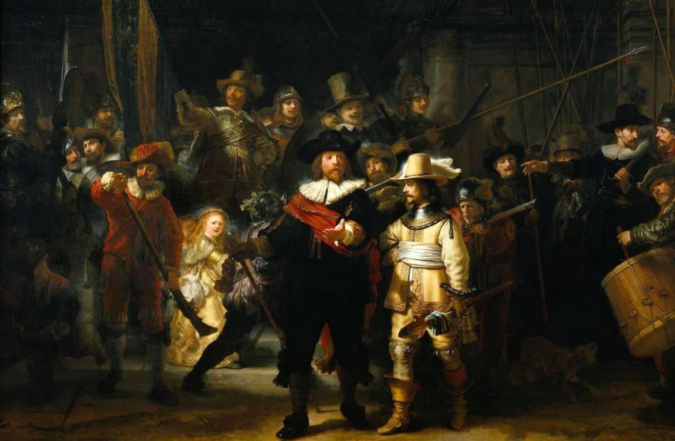 Rembrandt (1606-1669): La ronda de noche (1642). Amsterdam, Rijsmuseum.