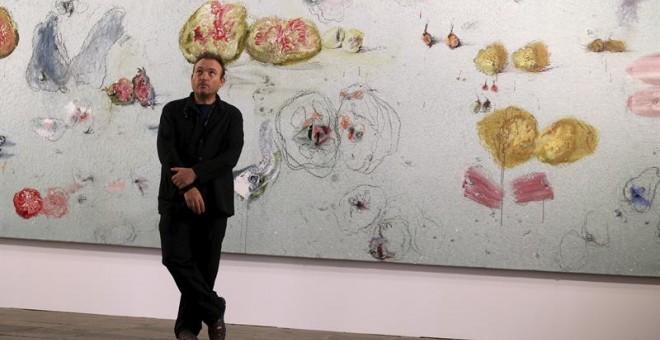 El pintor Miquel Barceló, que expone estos días en Salamanca 'El arca de Noé'.- EFE
