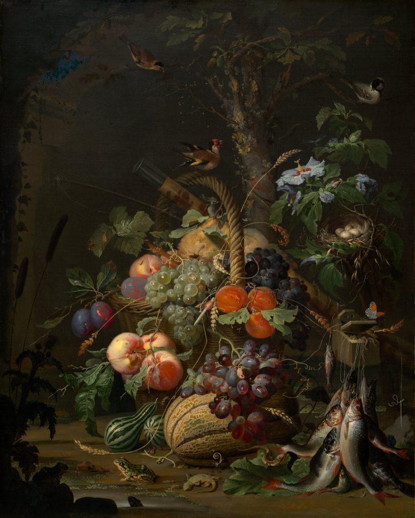 Abraham Mignon (1640-1679): Bodegón de fruta (1675). Londres, National Gallery