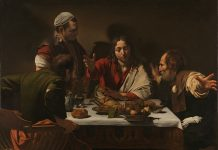 Michelangelo Merisi da Caravaggio, 1571 - 1610 The Supper at Emmaus 1601