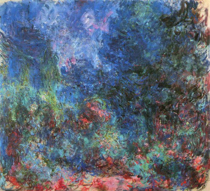La casa en giverny Visto desde el jardín de rosas, 1924 de Claude Monet (1840-1926, France)