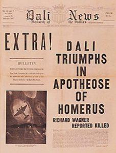 Ejemplar del periódico 'Dali News', en el que sólo incluía noticias sobre sí mismo.