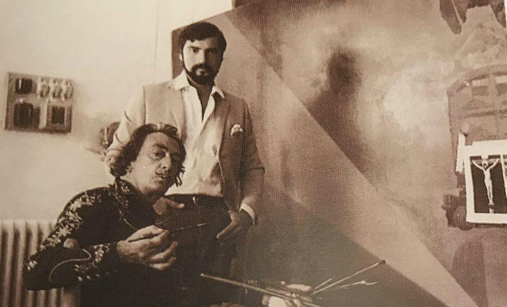 Carlos Revilla y Salvador Dalí enCadaqués (España, 1965). (Foto: Archivo personal)