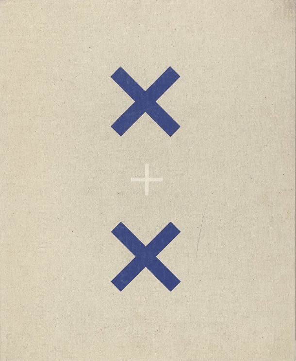 Pintura minimalista titulada X + X (Ten Works by Ten Painters), 1964