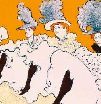 Detalle de Troupe de Mlle Églantine, cartel de Toulouse-Lautrec de 1896. (carteles Belle Epoque)
