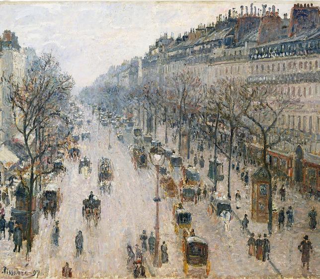 «El Bulevar Montmartre, mañana de invierno» (1897), de Pissarro - METROPOLITAN MUSEUM, NUEVA YORK