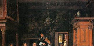 Retrato de una familia tocando música. Museo de Arte, Cleveland.