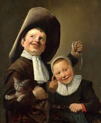 Niño y niña con gato